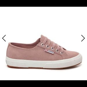Superga Rose Blush Pink Suede Sneakers